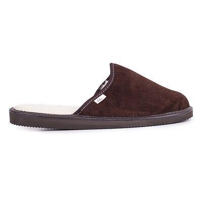 Pánské kožené pantofle s ovčí vlnou