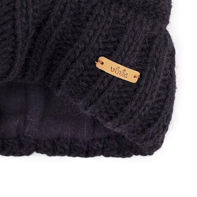 Căciulă de lână Vlnka V03 - Negru