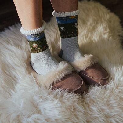 """Sheep socks Merino """"Clouds"""" -  White"""