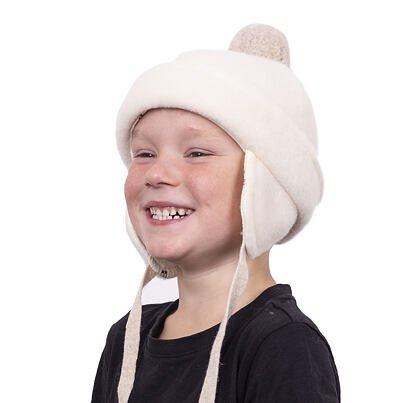 Gyermek sapka pomponnal - fehér